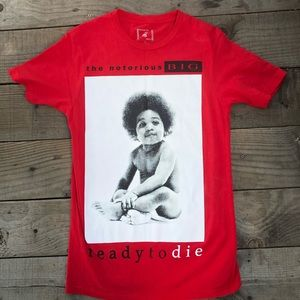 Red notorious BIG T-shirt